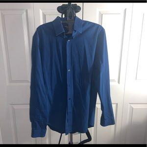 Express:  Modern Fit Blue Shirt (L)
